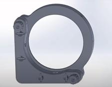 #15-868, 75.0/76.2mm Optic Dia., E-Series Kinematic Mount